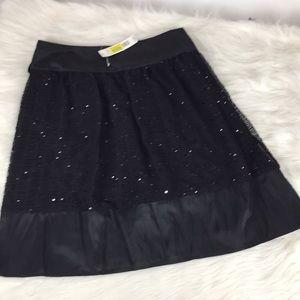 NWT August Silk Black Dress Skirt